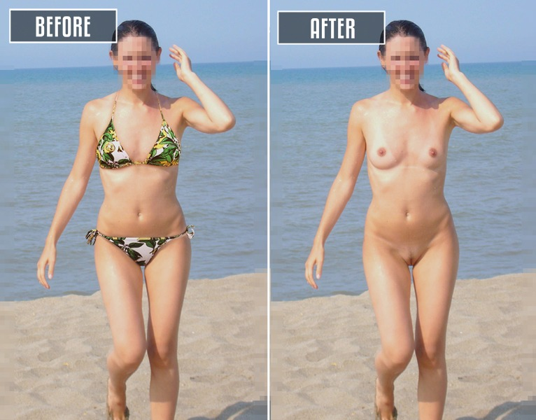 remove bikini photoshop